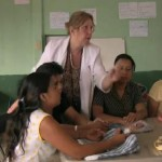 Gail in La Carpio with the Women's Coop