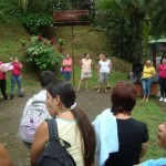 Women from La Carpio with Women from la Leon XIII visit the Finca for a Nature Seminar